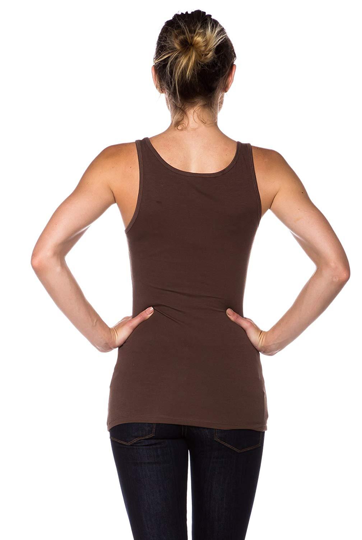 c7fd1be9 43 Piece Apparel Sense Stretch Cotton Jersey Knit Muscle Tank Top Appliques  Cotton Bamboo Fiber