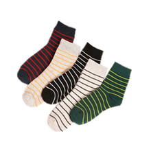 A Pair Men Socks Casual Stripe Colorful Print Sock Comfortable Breathable Spring Summer Autumn Winter Men Socks