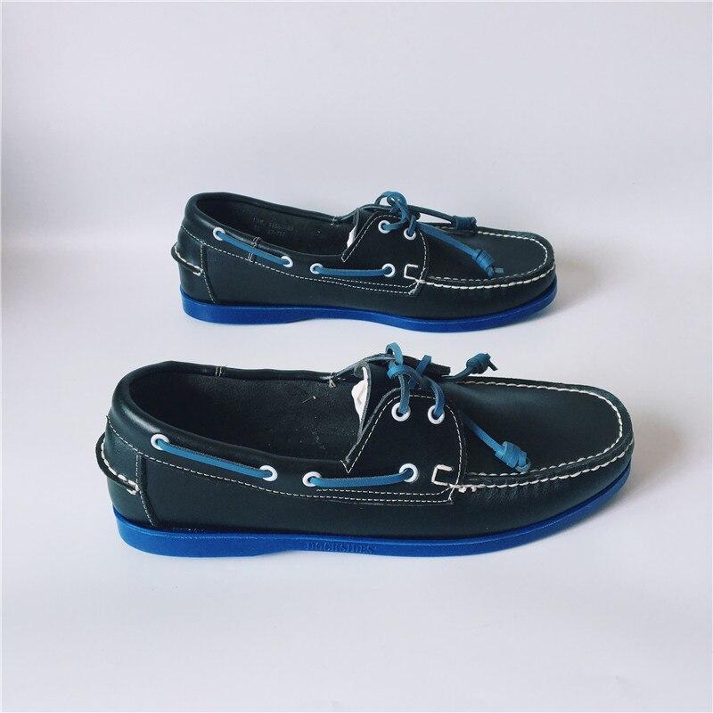 42 Semelle Conception Conduite Cuir Pour De Bleue Mode Hommes Euro Mocassins Appartements Lacets Noir Occasionnels Chaussures Avec pRqxRwEOB