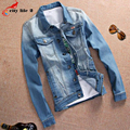 Plus Size M-3XL Denim Jacket Men 2016 New Arrival Autumn Turn-Down Collar Casual Slim Outerwear Pockets Jaquetas Masculino