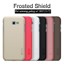 "NILLKIN for samsung a7 2017 case 5.7"" Frosted hard Plastic back cover with Screen Protector for samsung galaxy a7 2017 capa"