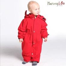 Harvey&Bo baby snowsuit windproof waterproof outdoor overalls infant romper hoodie one piece coat autumn and winter baby clothes