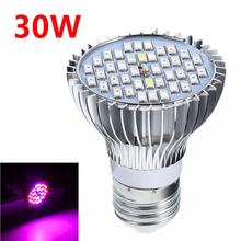 Sale 30W E27 Full Spectrum LED Plant Grow Lights Bulb Veg Hydroponic Lamps