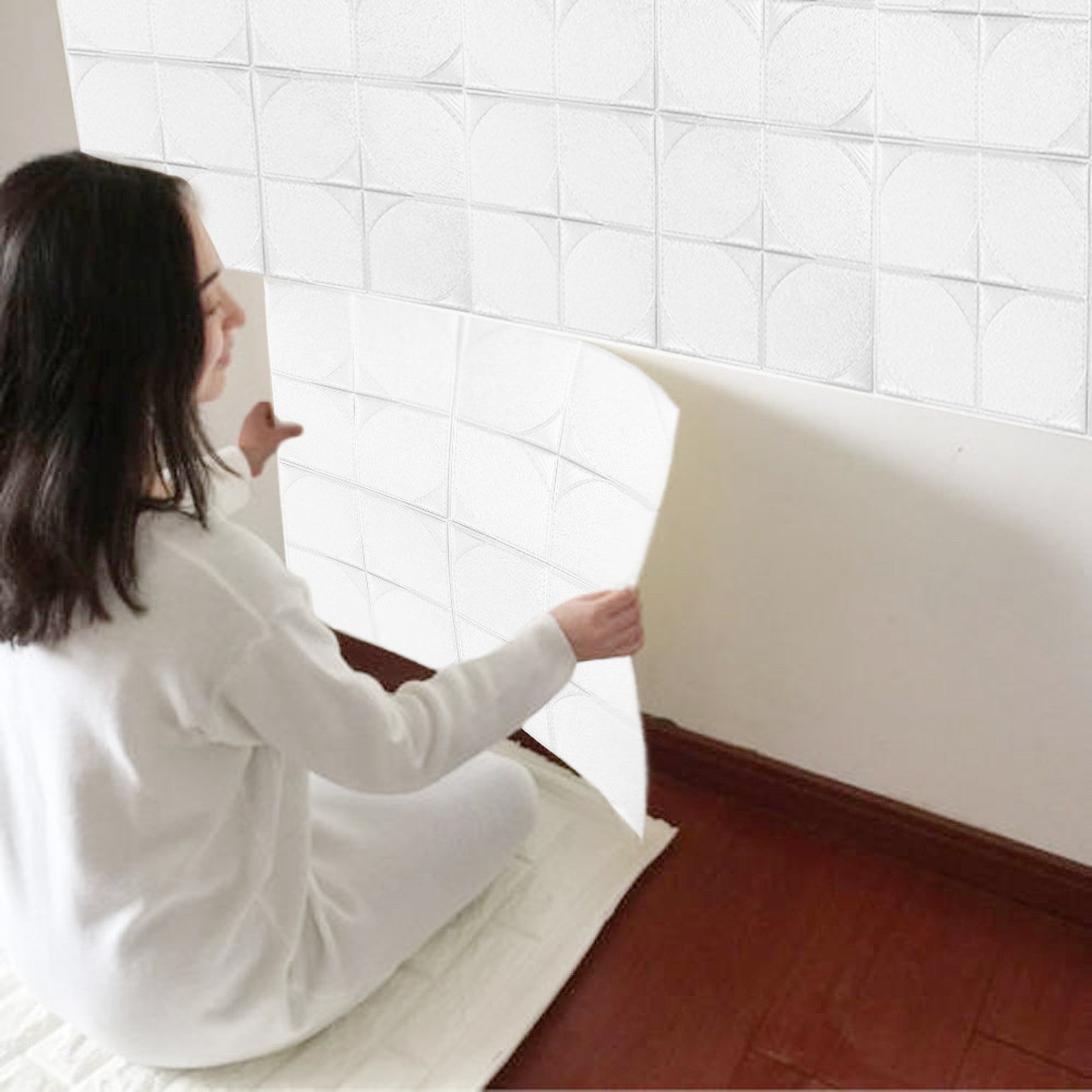 30*30cm PE Foam 3D Wall Sticker Embossed Brick Stone Safty Wallpaper DIY Wall Decor for Kids Room Living Room Bedroom Home Decor