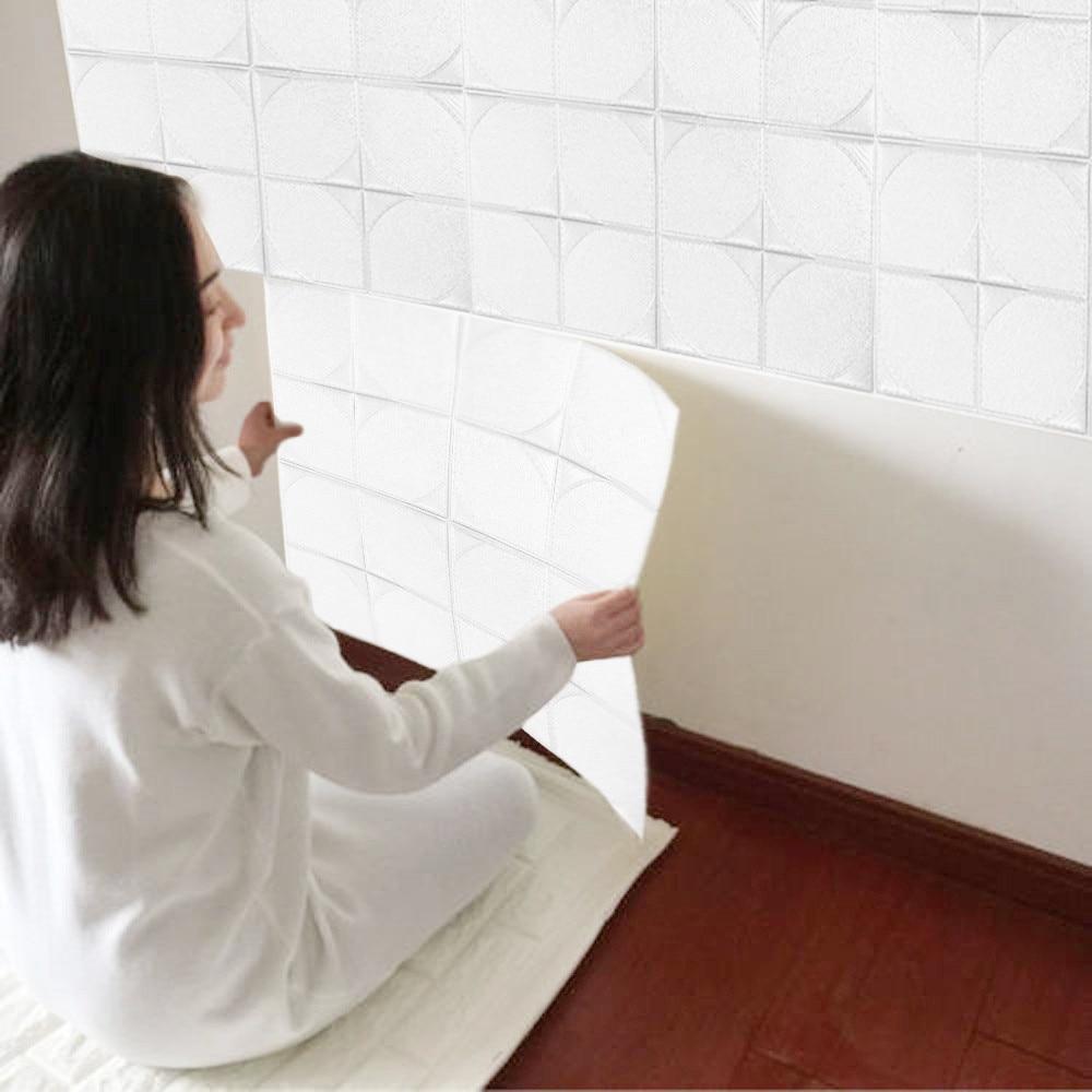 30*30cm PE Foam 3D Wall Sticker Embossed Brick Stone Safty Wallpaper DIY Wall Decor for Kids Room Living Room Bedroom Home Decor