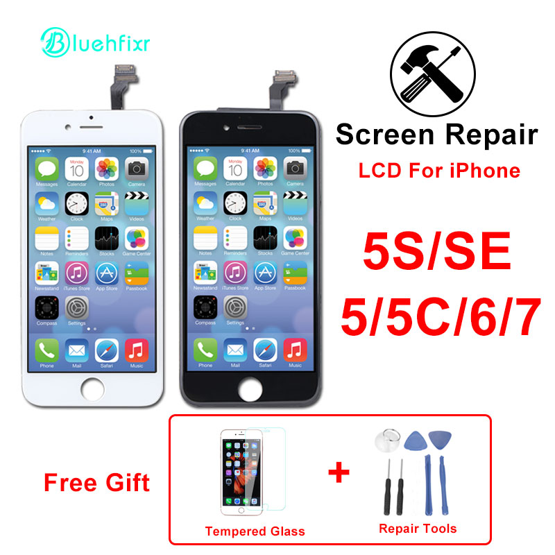 AAA Quality Tianma Glass Screen for iPhone 5S SE 5C 6 7 LCD with Touch Screen AAA Quality Tianma Glass Screen for iPhone 5S SE 5C 6 7 LCD with Touch Screen Digitizer pantalla for iPhone 6 iPhone 7 Screen