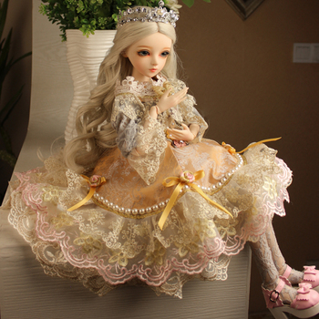 Beautiful BJD Fashion Dolls 60cm Embroidery Clothes Bride Resin Dolls Girl Birthday Gift Toys Baby Girls Doll Costume Makeup 1 3 bjd girl doll high quality handmade dress with outfit shoes wig hat makeup 60cm bjd sd dolls silicone reborn bjd dolls toys