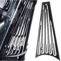 Black Billet Deep Cut Frame Grill For Harley Touring Street Glide FLHX FLHTK 09 13