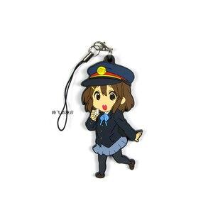 Image 3 - K ON Hirasawa Yui Akiyama Mio qtaka Ritsu Nakano Azusa Yamanaka saw ako Action Figure Anime Model ciondolo portachiavi in gomma 6cm
