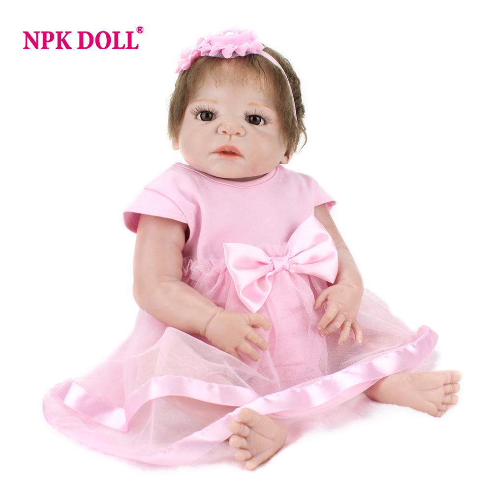 NPKDOLL 55 cm Doll Reborn Full Body Soft Silicone Reborn Realistic Newborn Reborn Babies Dolls For Girls Toys Prince Doll warkings reborn