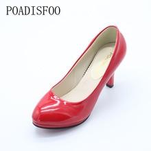 POADISFOO [H] [C] Estilo de Verano zapatos de Tacón Alto Inferiores Mujeres de la Marca Bombas Del Dedo Del Pie Puntiagudo Zapatos de Tacones Altos mujer de la Talla 34-39. DFGD-8807
