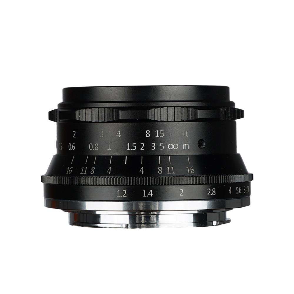 D'origine 7artisans 35mm F1.2 APS-C Manuel Objectif Fixe Pour Canon EOS-M M1 M2 M3 M5 M6 M10 M100 Appareil Photo REFLEX