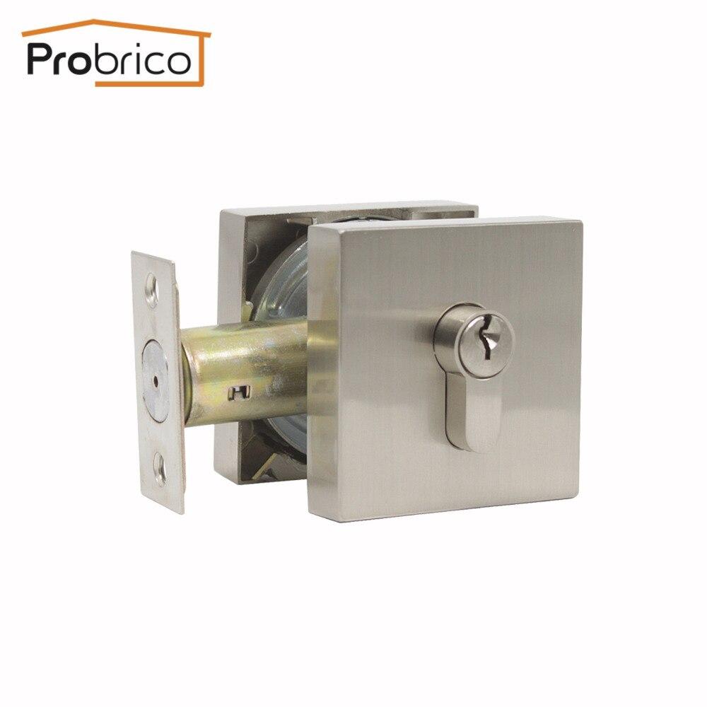 Probrico Hidden Door Locks Square Panel Deadbolt Lock With Keys Atresia Mortise lock Interior exterior Security door Hardware
