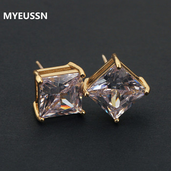 Classic Square Cubic Zirconia Stud Earrings for Men Small CZ Crystal Women Studs Ear For Party.jpg 350x350 - Classic Square Cubic Zirconia Stud Earrings for Men Small CZ Crystal Women Studs Ear For Party Mens Earrings hip hop jewelry