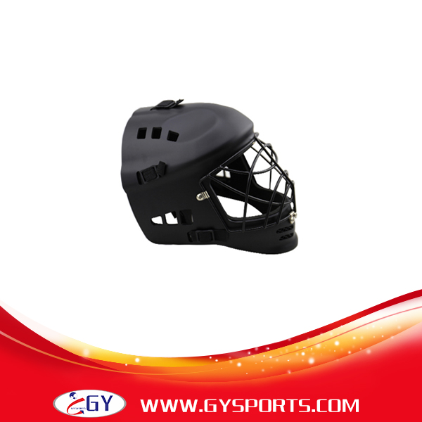 ФОТО PE inner  floor ball helmet sports  field hockey helmet  with steel cage and ABS outshell shell face shield