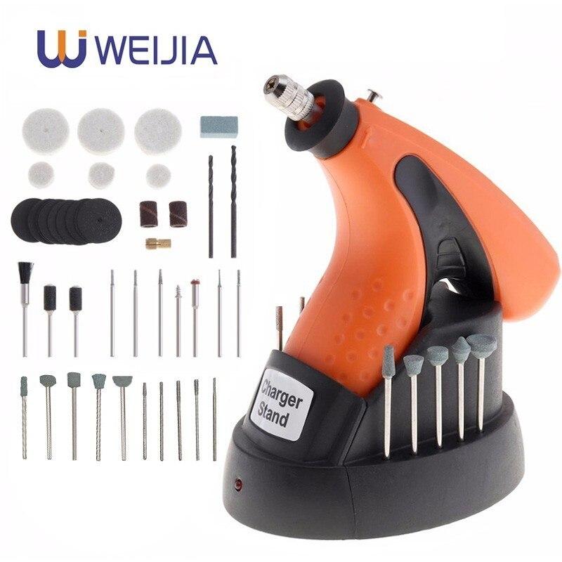 3.6V wielofunkcyjny elektryczny Dremel grawerowanie Mini wiertarko-szlifierka szlifierka narzędzia zmienna z 43 sztuk elektronarzędzi
