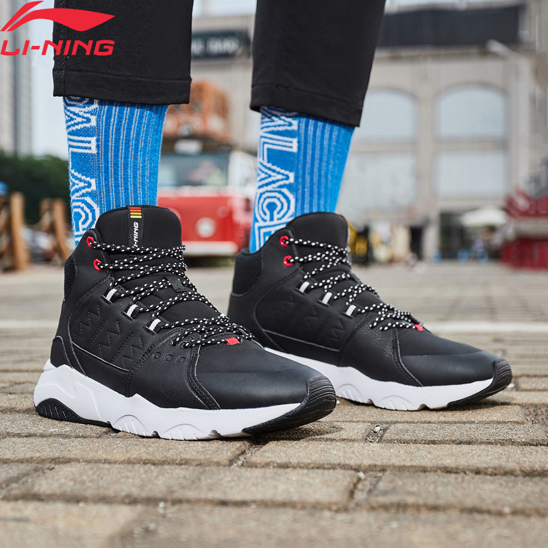Li-ning homem ln pioneiro estilo de vida sapatos respirável quente velo wearable forro conforto sapatos esportivos tênis agcn125 yxb235
