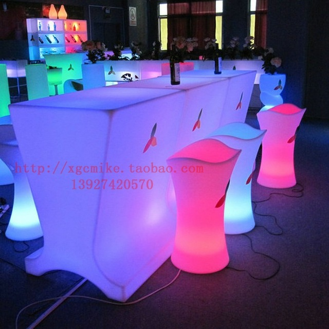Light Up Plastic Chair/ Led Furniture Manufacturer