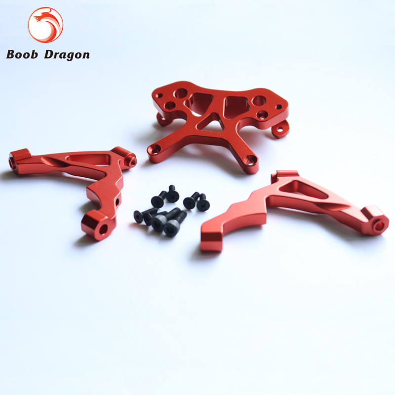 Baja CNC Alloy Front Shock Tower Set for 1/5 HPI Baja 5b ss 5t 5sc Rovan King Motor free shipping alloy shock cap set piggy back shock caps for baja 5b ss and 5t