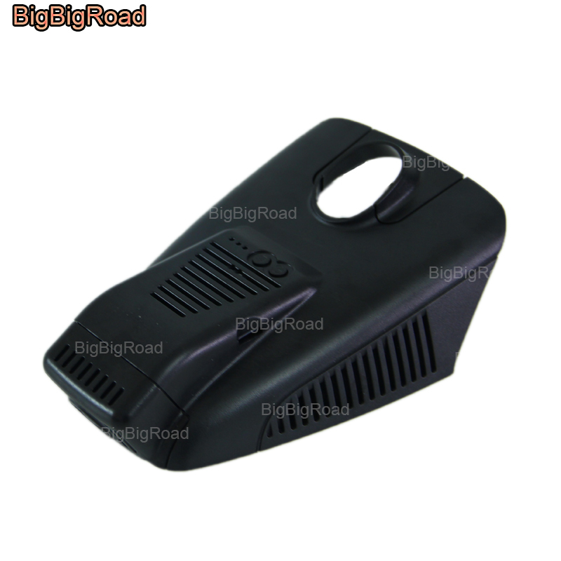 BigBigRoad For Mercedes-Benz C180 C200 C260 GLC260 W202 W203 W204 W205 Car Video Recorder Car Wifi DVR black box Dash Cam bigbigroad for geely king kong mk ck panda lc englon c5 car wifi dvr video recorder fhd 1080p g sensor dash cam car black box