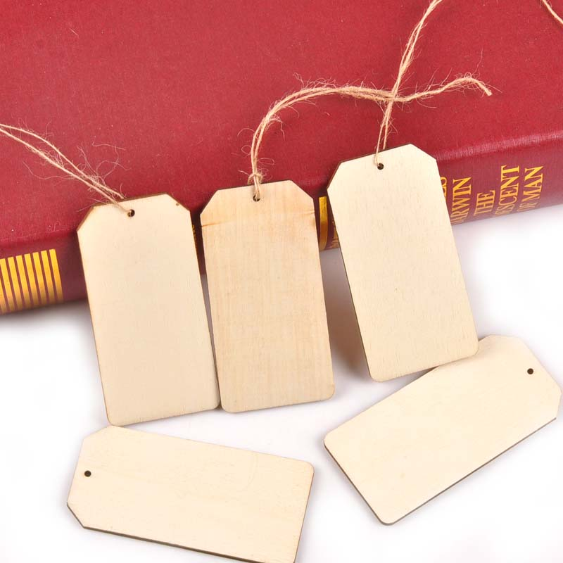 25pcs Unfinished Blank Wood Pieces Round Hanging Gift Tags with Hole 80mm