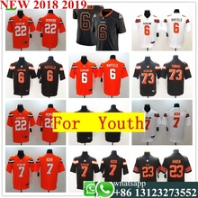 fef6e0eaef4 Youth Cleveland Baker Mayfield Joe Thomas Jabrill Peppers Damarious Randall Vapor  Untouchable Limited Player Jersey(