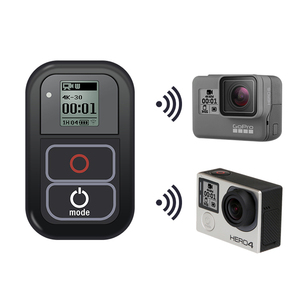 Image 2 - Go Pro WiFi Remote Control+Charger Cable Wrist Strap Waterproof GoPro Remote Case for Hero 8 7 6 5 Black 4 session 3+Accessory