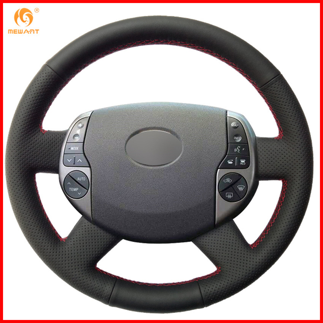 Mewant For 2004 2005 2006 2007 2008 2009 Toyota Prius Black Artificial Leather Car Steering Wheel Covers Accessories