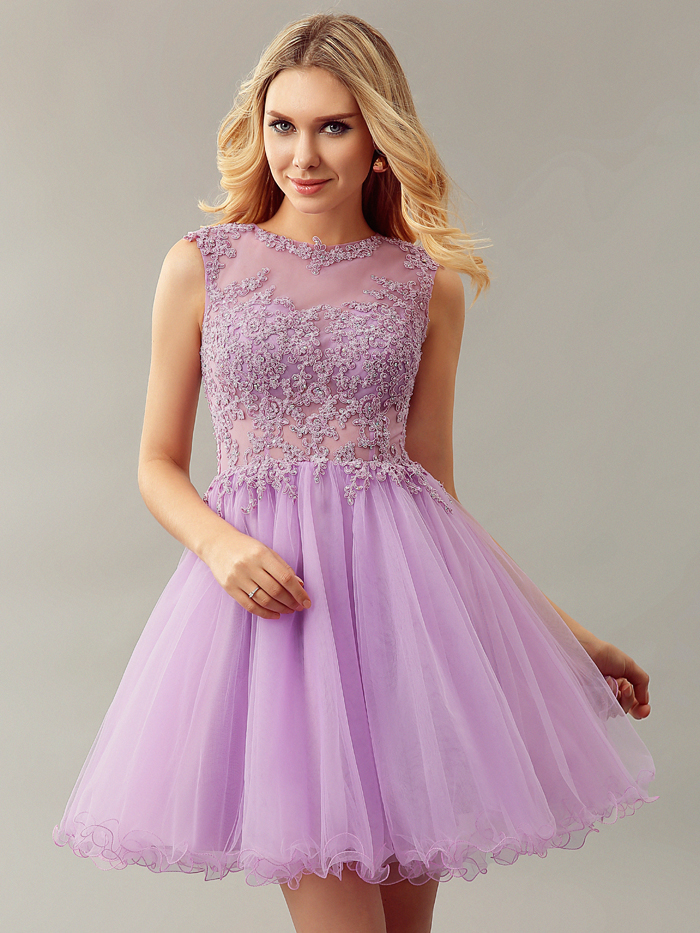 Online Get Cheap Lilac Cocktail Dress -Aliexpress.com | Alibaba Group
