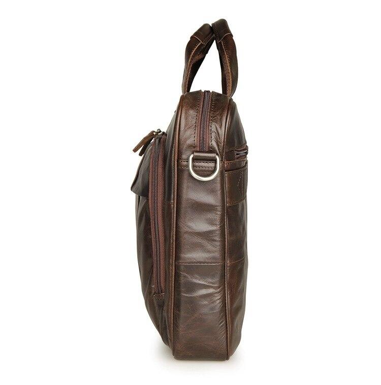 Nueva moda bolsos de mensajero de cuero genuino para hombre, bolsos de cuero de vaca, bolso de cuerpo cruzado para hombre, Casual, bolsa de maletín comercial # MD J7334 - 3