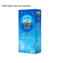 100 pcs/box Mingliu Ultra Thin Large Oil Condoms Natural Latex Smooth Lubrication Penis Sleeve for Men Safe Contraception Tool