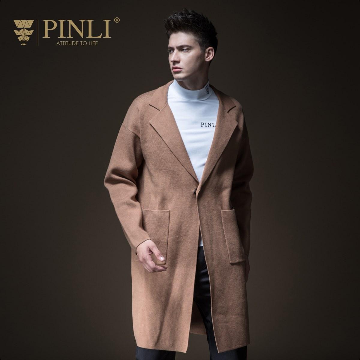 Мужской свитер, пуловер свитер, горячая Распродажа Turn Down Воротник обычный длинный Pinli Pin Осень Новый мужской средней длины B183310634