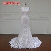 High Quality Mermaid Bridal Gown 2017 Custom Size Sleeveless Vestido De Noiva Tailored Court Train Special