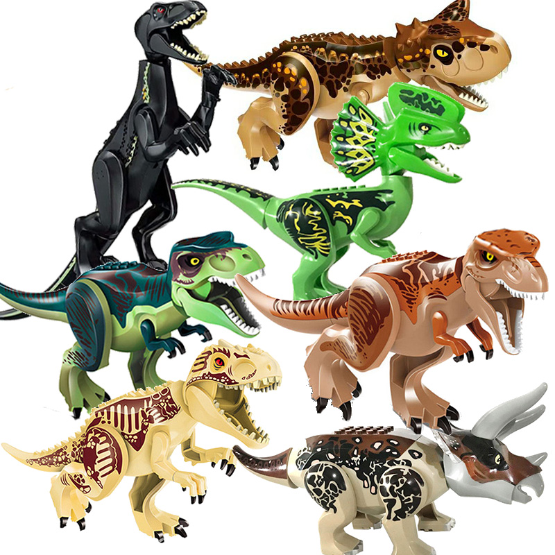 Toys & Hobbies Amicable Jurassic World 2 Dinosaurs Indoraptor Carnotaurus Building Blocks Bricks Set Children Gift Toys Compatible With Legoing Relieving Rheumatism Model Building