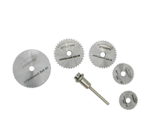 Mini Circular Saw Blade Set 6PC Cutting Disc Rotary Drill Tool Accessories For Wood Aluminum Cutting