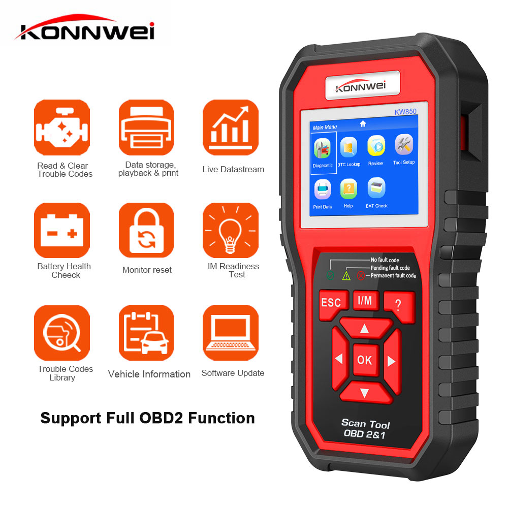 Professional scanner obdii Auto Car Diagnostic Scanner obd2 code reader Scanner auto check diagnostic tool Erase Errors KW850Professional scanner obdii Auto Car Diagnostic Scanner obd2 code reader Scanner auto check diagnostic tool Erase Errors KW850