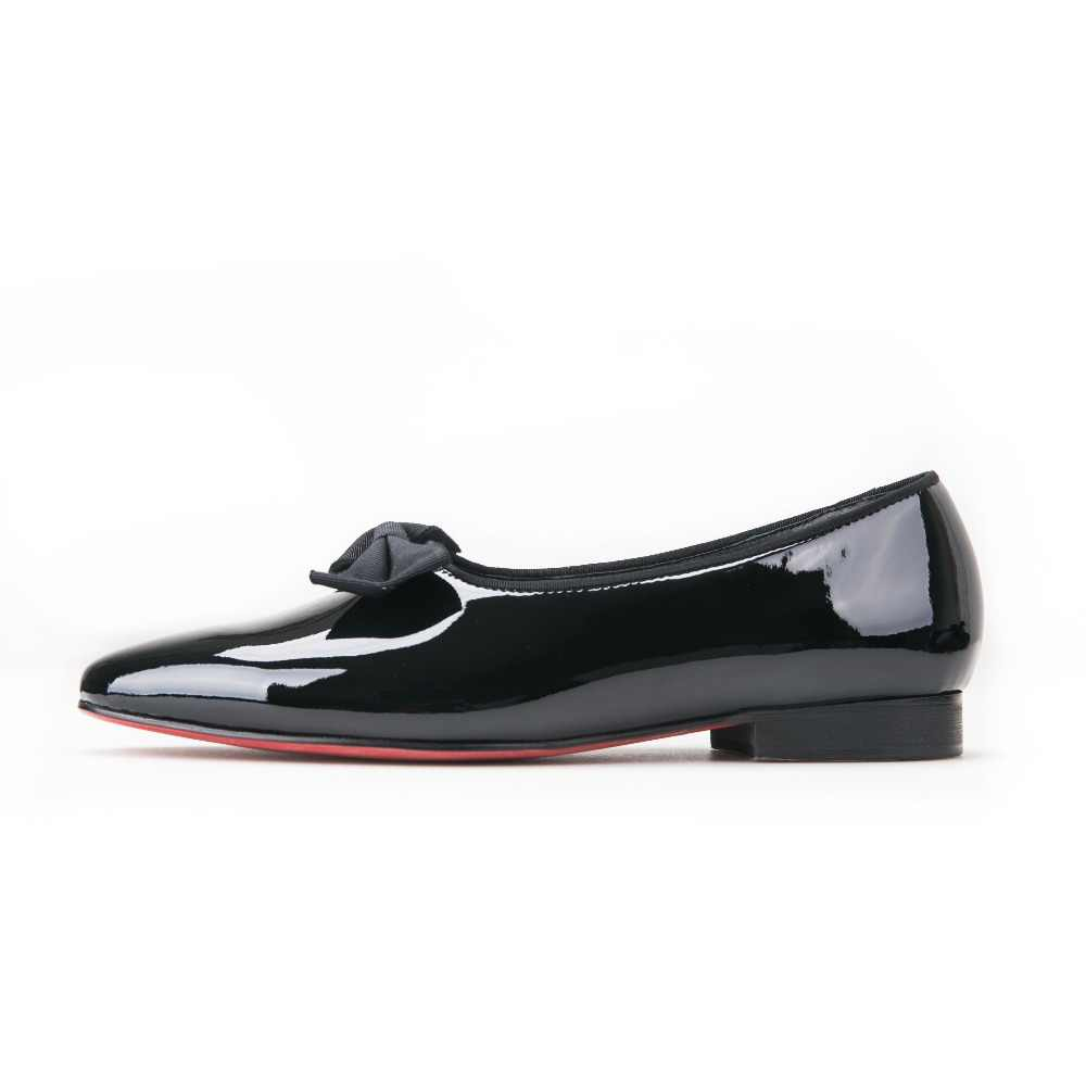 b23dad89de3 ... Jeder Schuh new black patent leather men handmade loafers with black  bowtie Fashion Banquet and prom ...