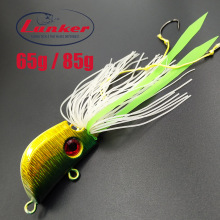 Lunker madai tai kabura 65 85g rubber metal slow jig head red snapper skirts ties luminous glow salt water fishing lure inchiku