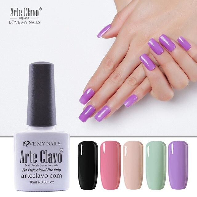 Arte Clavo Uv Gel Nail Polish 2018 Purple Color Fashionable Nail Art