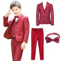 Boys Suits For Wedding Clothing Set (Jacket pant Tie )Kids Prom Party Clothes For Children Boy Classic Formal Costume Dresses