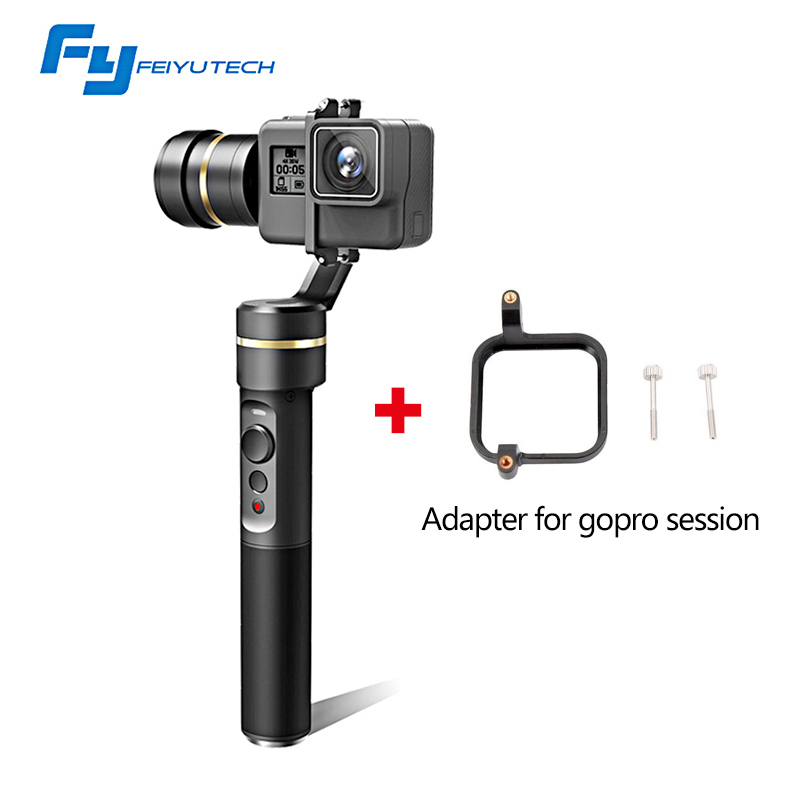 Feiyutech Feiyu FY G5 Handheld 3-Axis Gimbal Stabilizer for Action Camera Yi 4K SJCAM Sony for Gopro hero 3/4/5/6 or session feiyu tech g5 3 axis handheld gimbal action camera stabilizer splash proof design for hero5 hero4 hero3
