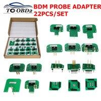 Newest BDM Adapters 22pcs/set KTAG KESS KTM Dimsport BDM Probe Adapters LED BDM Frame Adapter for ECU Programmer Free Shipping