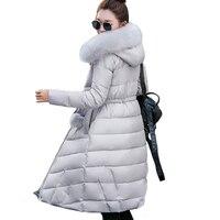 Cổ áo lông thú dài trùm đầu casaco feminina inverno ấm dày bông độn cao chất lượng phụ nữ winter áo khoác womens áo khoác parkas
