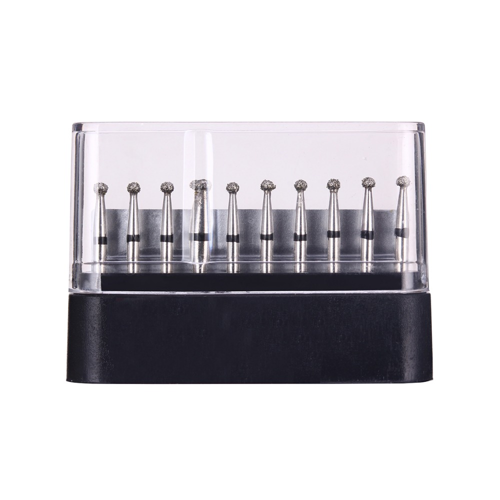 10pc/Boxes Dental Diamond Burs Drill Dental Burs Dia-burs For High Speed Handpiecess Medium Dentist Tools