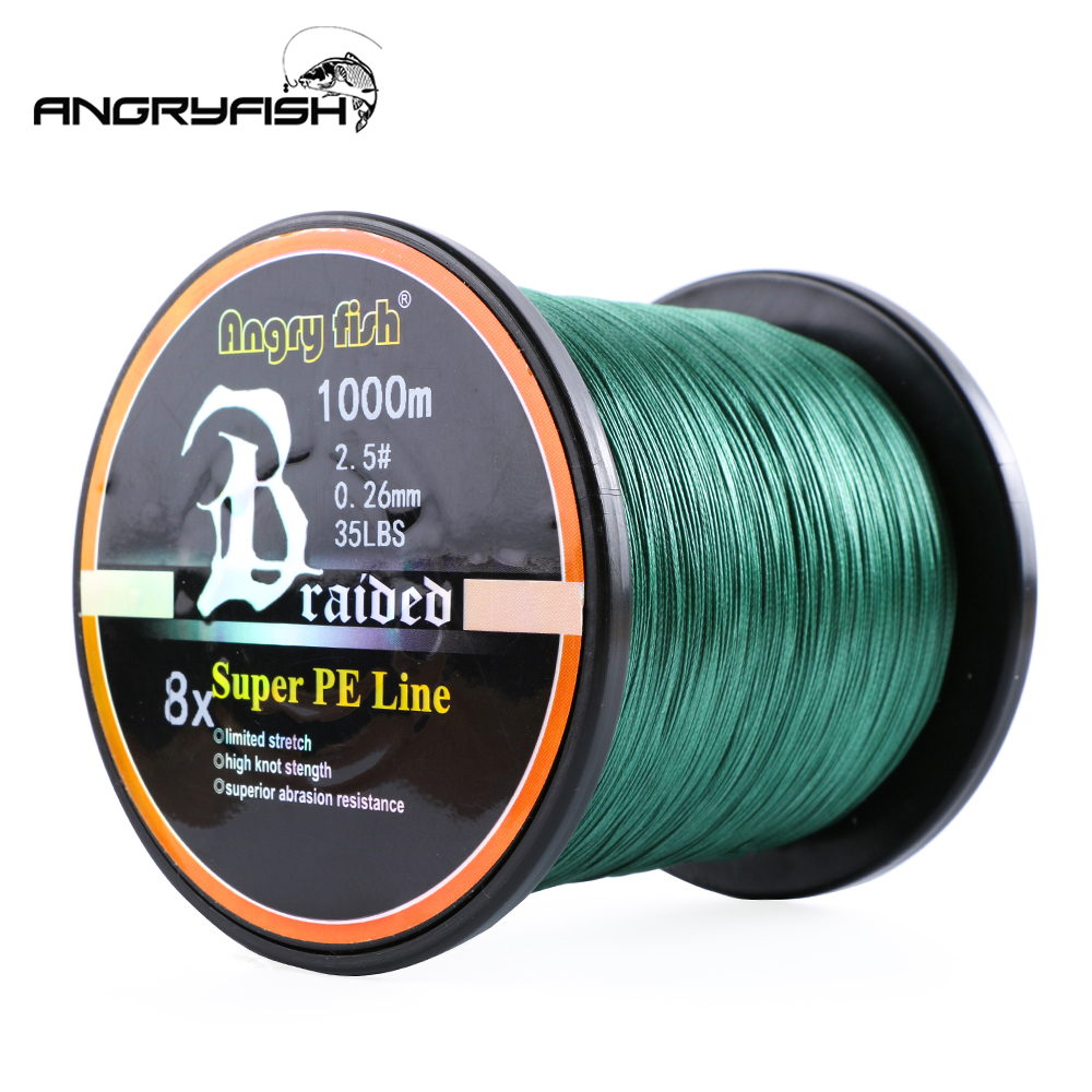 Image 5 - Angryfish Wholesale 1000Meters 8x Braided Fishing Line 8 Colors Super PE Line-in Fishing Lines from Sports & Entertainment