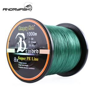 Image 5 - Angryfish ligne de pêche tressée 8 couleurs, ligne Super PE, 1000 mètres, vente en gros