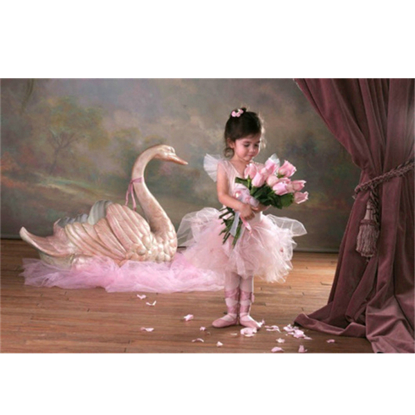hot selling Home Decor diamond Painting Characters The little girl and the Swan Cross Stitch diamond embroidery Rhinestone k572