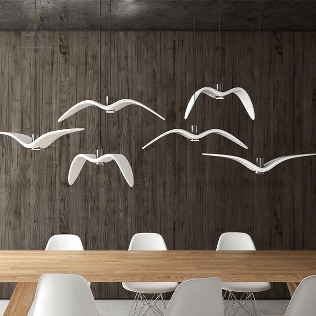 Nordic Kreative Seagull Pendelleuchten Schwarz Weiss Led