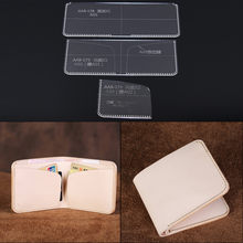 Unisex Wallet Template Leather Clear Acrylic Pattern Set Model for Making Short Wallet Purse Leathercraft Tools 11*9.5*1cm(China)