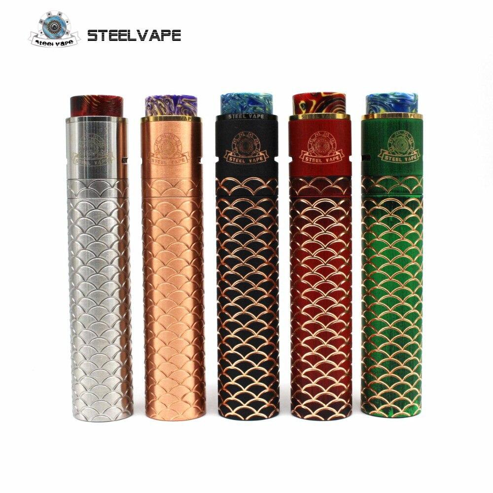 Kit d'origine en acier Vape Sebone E Cigarette Tube mécanique Mech Mod Kits vaporisateur électronique narguilé acier chaud Vape